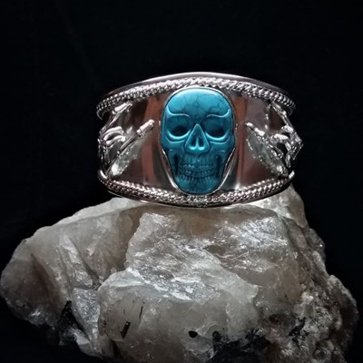 Zino Rock Skull Hands Cuff Bangle